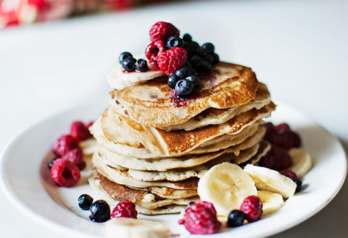 morning, healthy, pancakes, fruit, food, summer, fresh, cute, berries, yum, breakfast, love