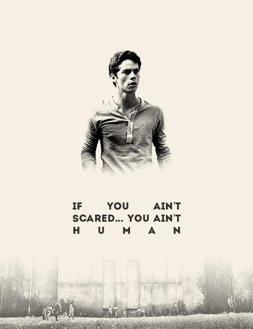 If you ain't scared you ain't human. | We Heart It | the ...