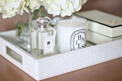 bedroom, candle, decor, decoration, flowers, home, perfume, white