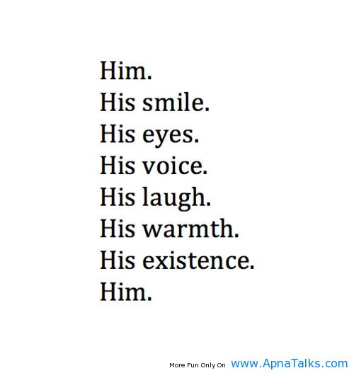 Pictures saying  i love him