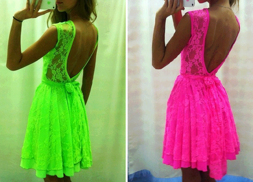 colors, outfits, cool, fashion, neon, dress, girly, clothes