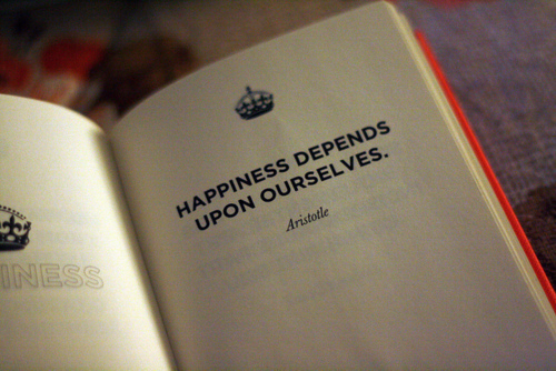 Happiness Depends On Ourselves Aristotle Quote: Image #1831606 By Patrisha On Favim.com