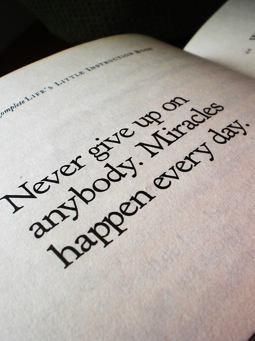 don't give up, everyone, life and miracle