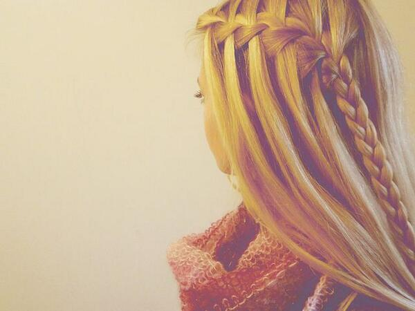braid, hair, waterfall, side rbaid