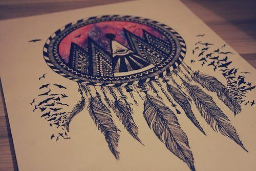 Tribal dreamcatcher - image #1872466 by marky on Favim.com