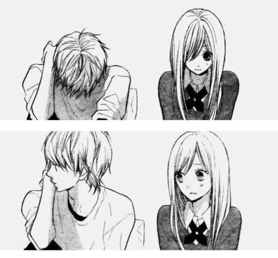 black and white, couple, cute, kawaii, look, love, lovely, manga love, mangacap, pairing, shoujo, shy, shyness, sketch, sweet
