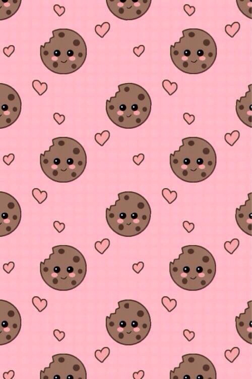 Background Brown Cookie Cookies Cute Hearts Ios Love