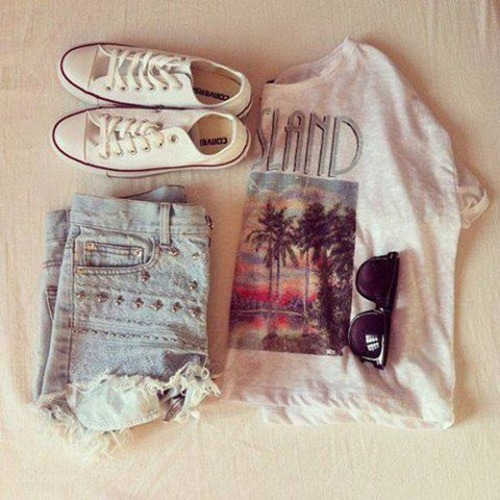 all star, all star converse, converse, denim shorts, fashion, girly, indie, outfit, shoes, sneakers, summer, sunglasses