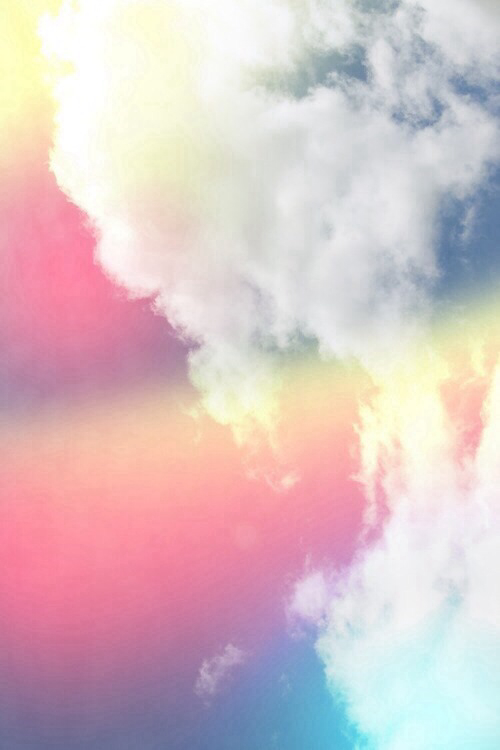 blue cloud with rainbow wallpaper - photo #16