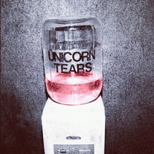 cute, grunge, pink, tears, unicorn