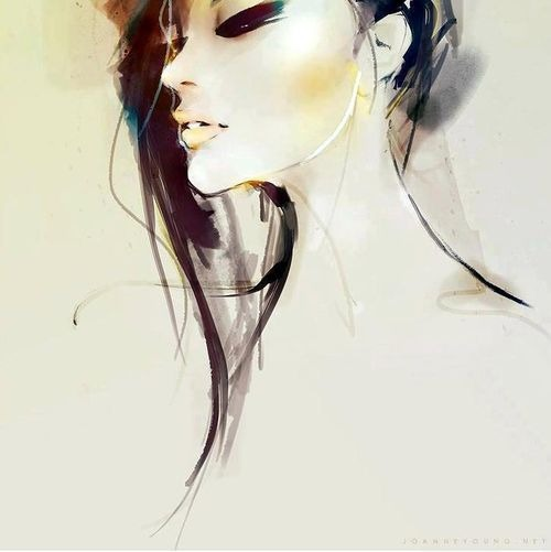 art, drawing, elegant and face