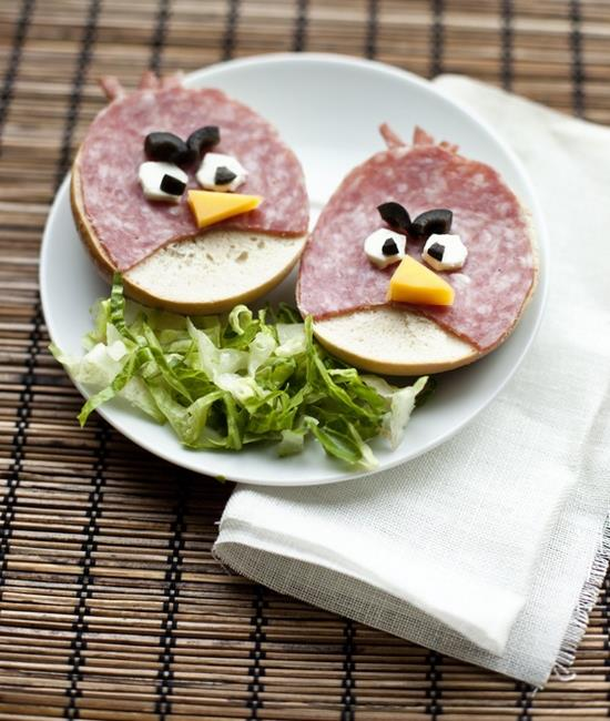 angry birds, breakfast, diy and food