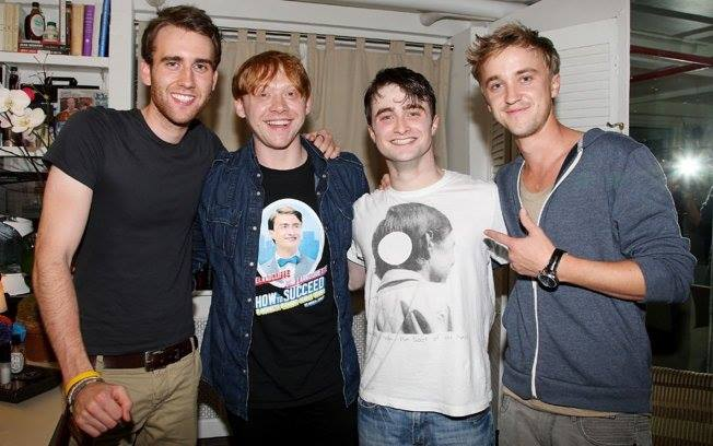 daniel radcliffe, draco malfoy, harry potter and matthew lewis