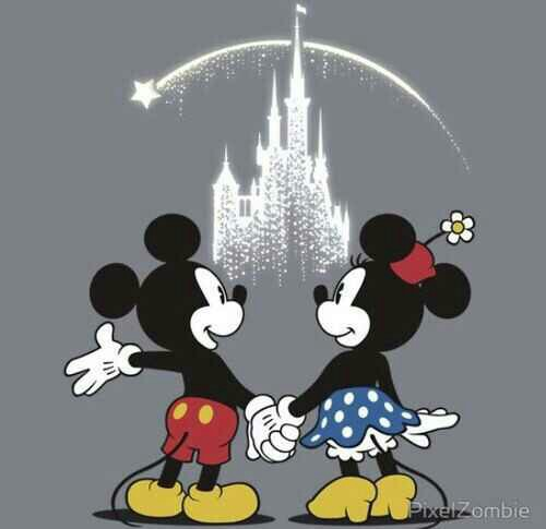 disney, disney world, mickey mouse and minnie mouse