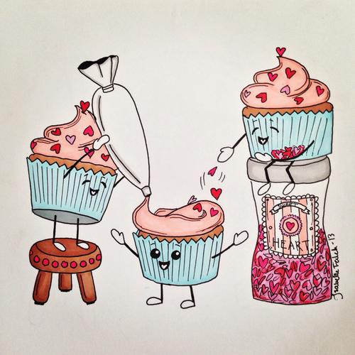 Untitled image 2151786 by saaabrina on for Cute muffin drawing
