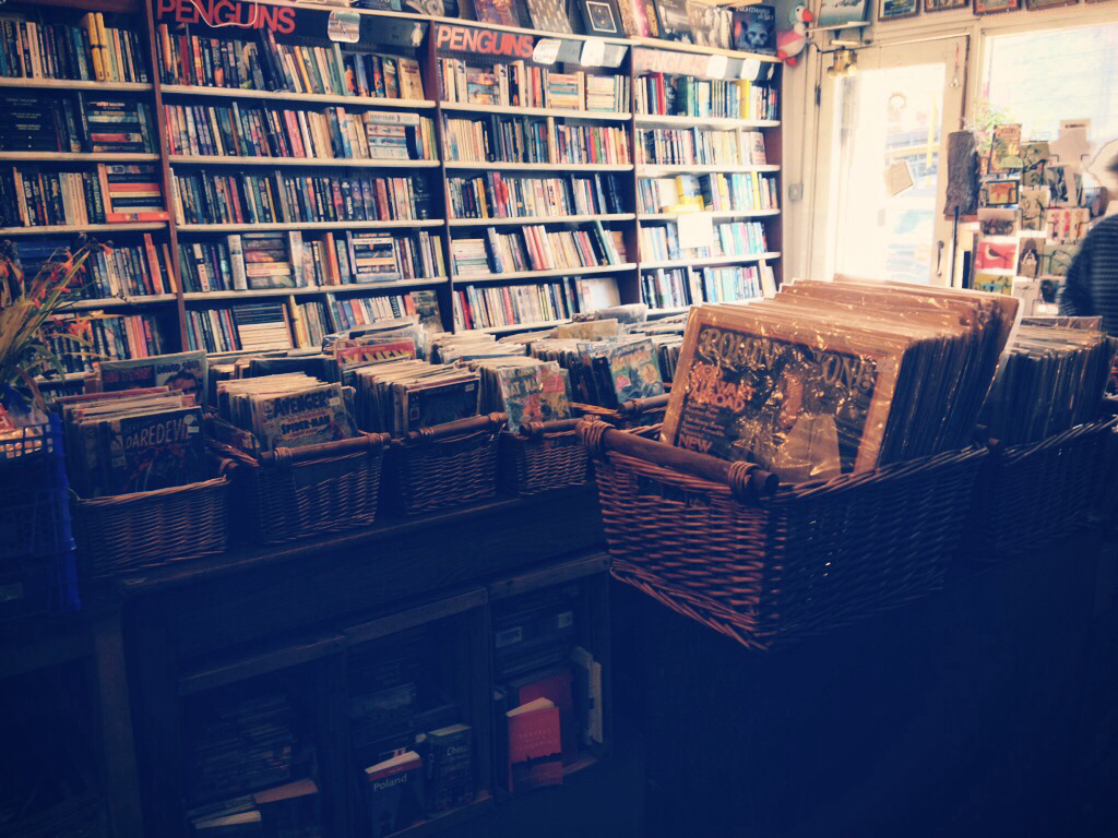 book shop, books, cool and films