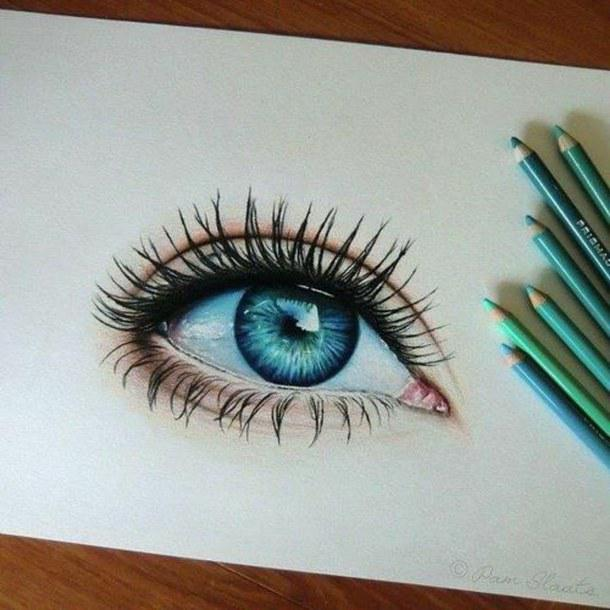 how to draw blue eyes