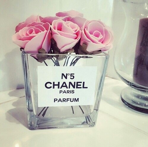 chanel chanel no5 flowers label pink rose roses