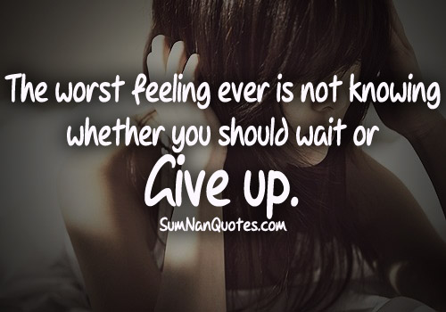 Quotes Feeling Sad And Alone: Depressing Quotes About Giving Up. QuotesGram