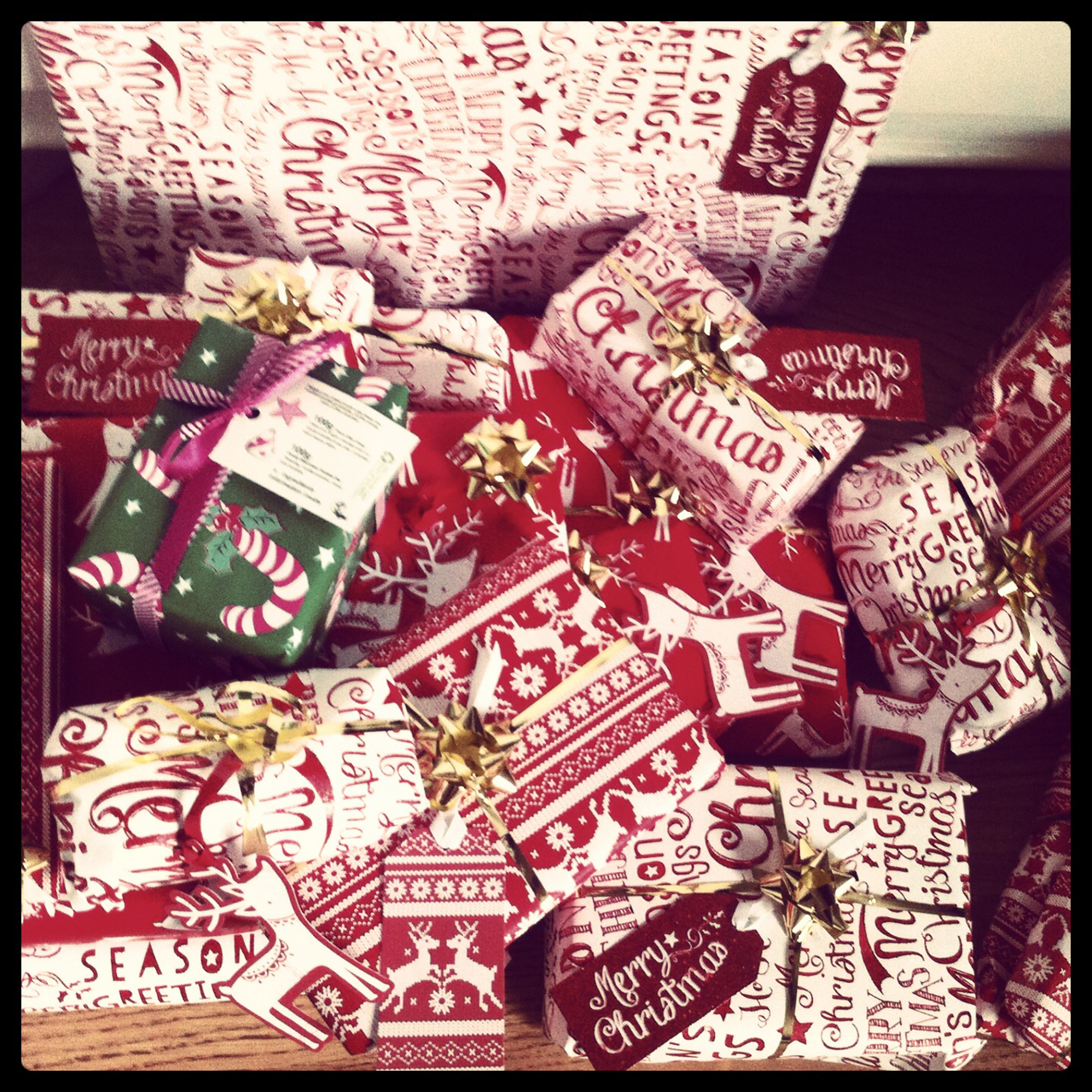 christmas, gifts, presents and wrapping paper