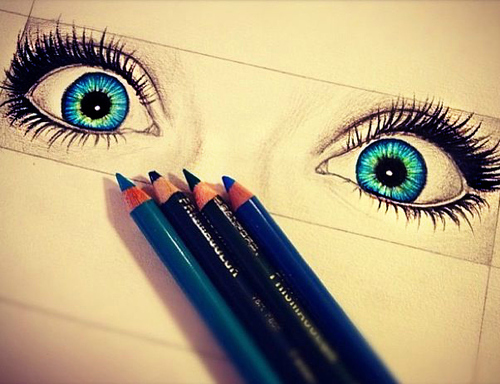 beautiful, colors, draw and eyes