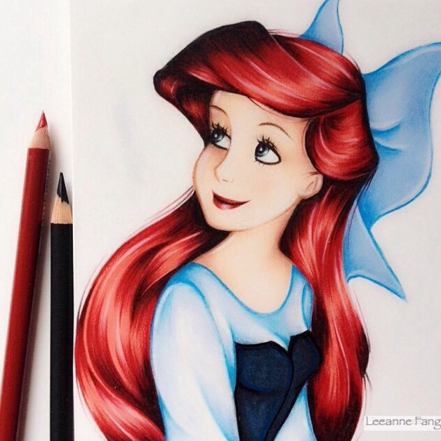 Drawings of disney princesses hair