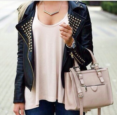 Bag Cool Fashion Girl Jacket Outfit Street Style Image 2556906 By Saaabrina On