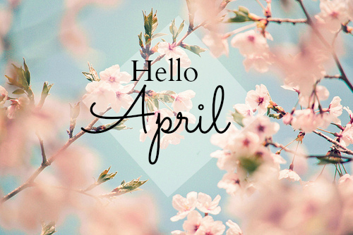 april, cute, flowers and hello