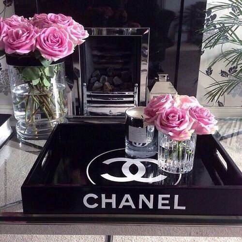 Buckets Candle Chanel Decor Idea Decoration Flowers Luxury Pink Room Decor Rose Water