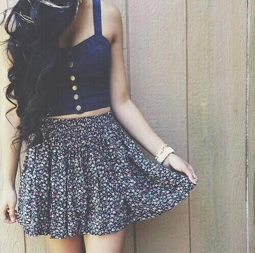 awesome blue clothes crop top curly