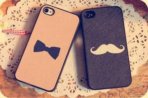 bow, cases, iphone, mustache, phone, tumblr