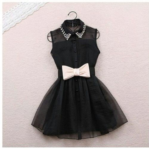 back black bow clothes cute dress fashion love