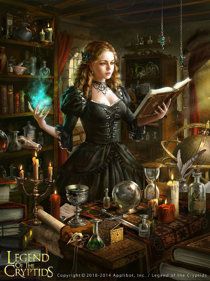 digital art, drawing, fantasy, gothic, magic, painting, witch room