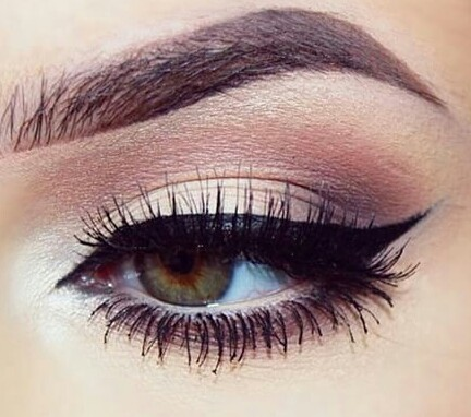 brow, brown, eyelashes and eyeliner