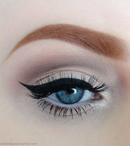 blue, eye, eyebrows and eyeliner