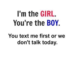 Girl text first