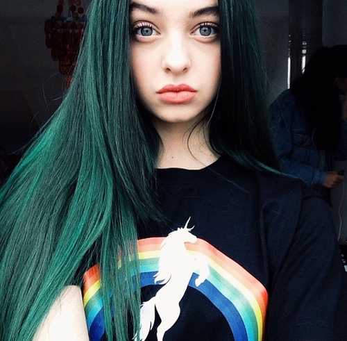 beautiful blue eyes green hair image 3353246 by