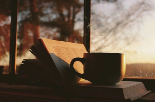 autumn, book, coffee and fall