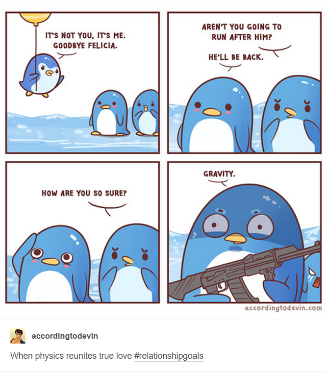 comic, cute, funny, penguins