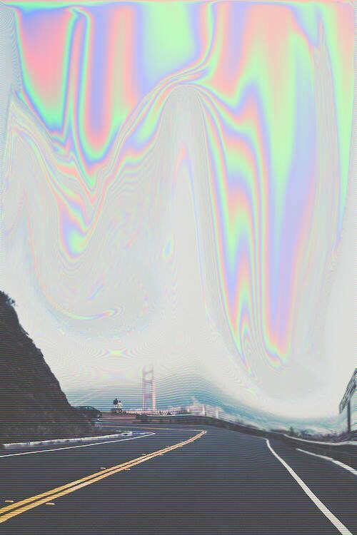 background, cloudy, dark, edit, grey, grunge, hill, oil spill, rainbow, road, sky, wallpaper