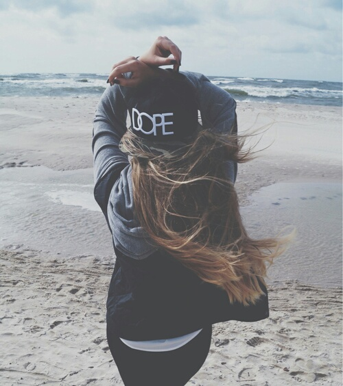 alternative, beach, beauty, black, clothes, fashion, girl, grunge