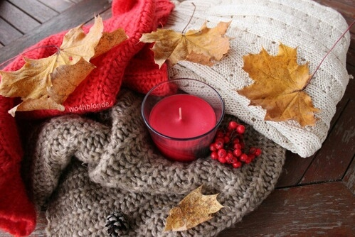 autumn, candles, decoration, fashion, sweater