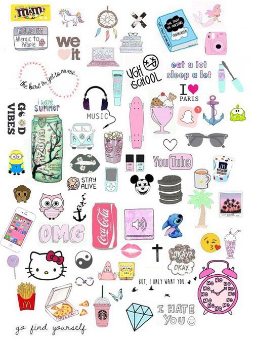 anchor, arizona, books, candies, coca cola, cute, disney, eat, fangirl, food, infinity, kiss, minions, music, nails, penny, skate, sleep, stickers, stitch, summer, wallpapers, yingyang