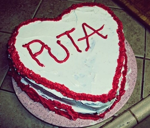 puta cake happy birthday