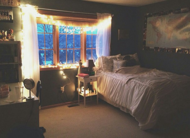 Bed bedrooms cold decor grunge image 3716246 by for Room decor ideas grunge