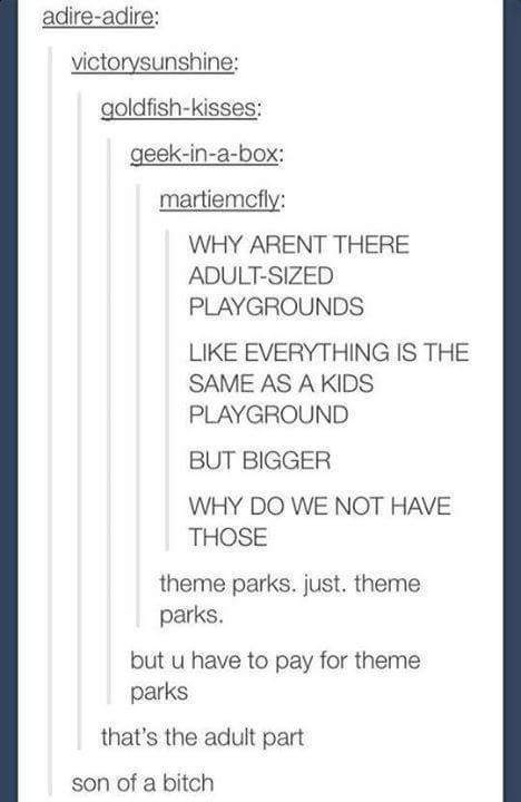 adults, funny, kids, posts, tumblr, theme parks, playgrounds