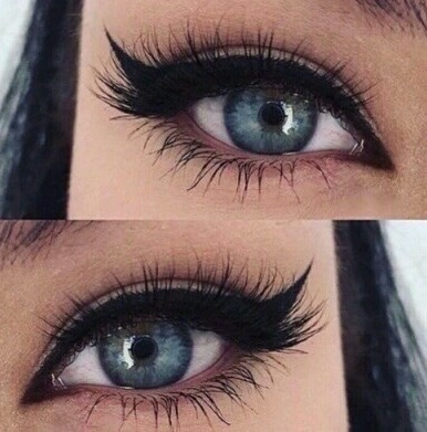 blue eyes, eyelashes, eyeliner and eyes