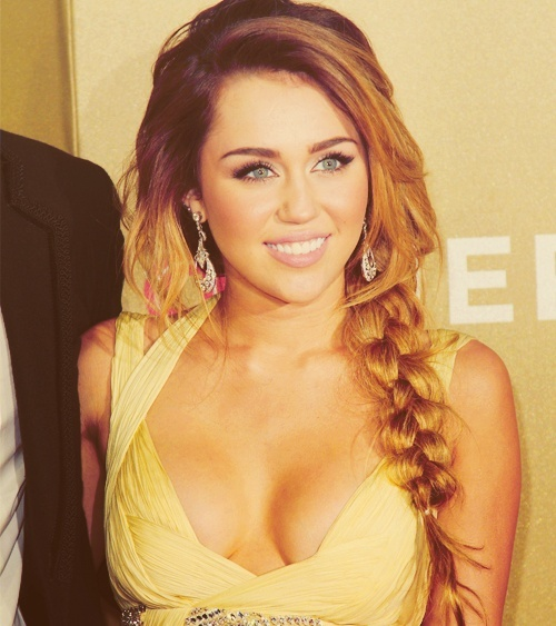 amazing, beautiful, blonde, braid, cyrus, gorgeous, hemsworth, liam, miley