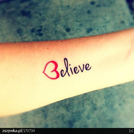 Believe heart tattoo