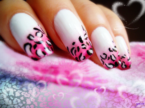 black, cute, leopard, nails, photography, pink, white